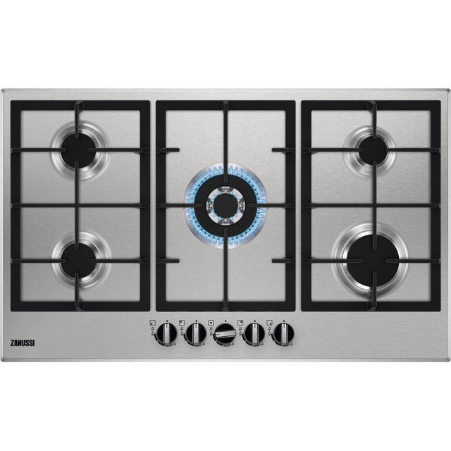 Zanussi ZGNN955X Built In Gas Hob - Stainless Steel - ZGNN955X_SS - 1