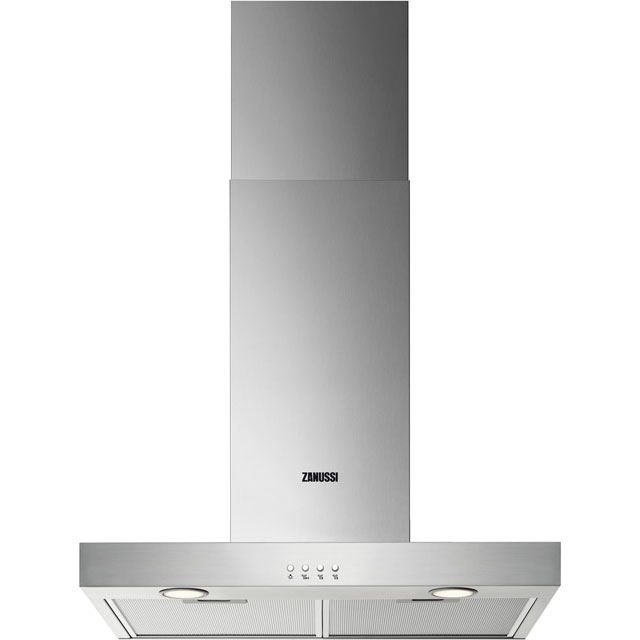 Zanussi ZHB62670XA 60 cm Chimney Cooker Hood - Stainless Steel - C Rated - ZHB62670XA_SS - 1