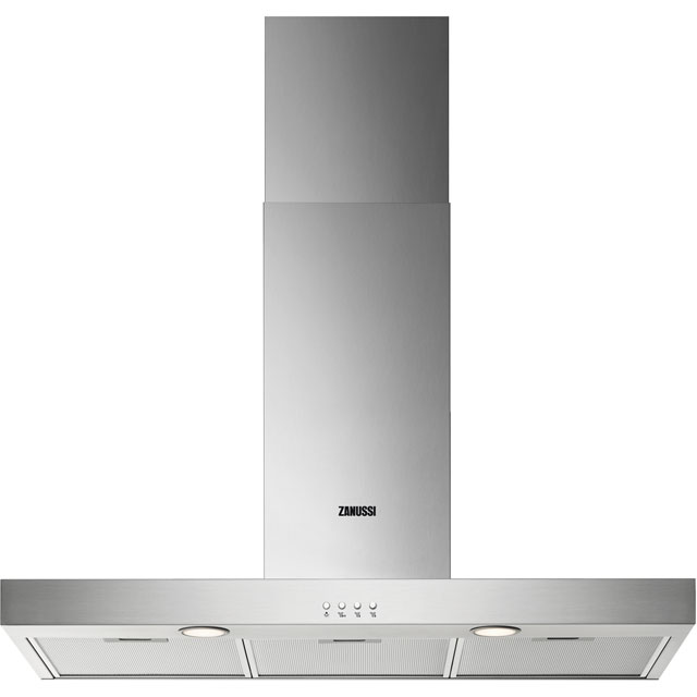 Zanussi 90 cm Chimney Cooker Hood - Stainless Steel - C Rated