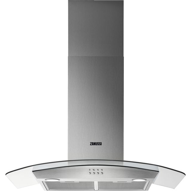 Zanussi ZHC92352X 90 cm Chimney Cooker Hood - Stainless Steel - C Rated - ZHC92352X_SS - 1