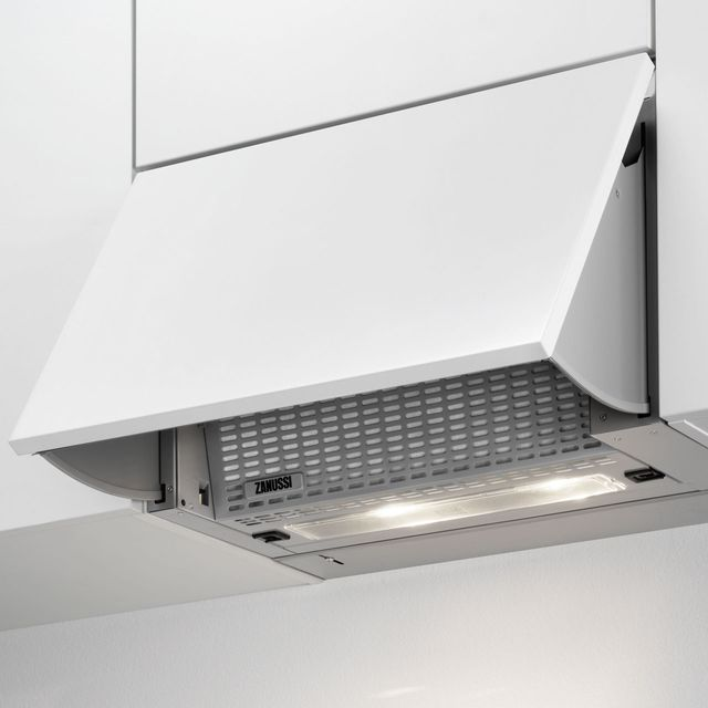Zanussi ZHI612G Built In Integrated Cooker Hood - Grey - ZHI612G_SS - 1