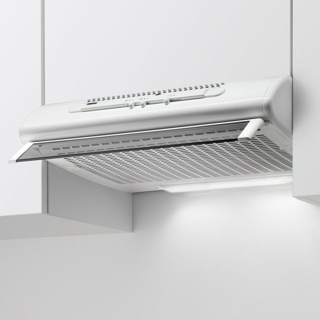 Zanussi 60 cm Visor Cooker Hood - White - D Rated
