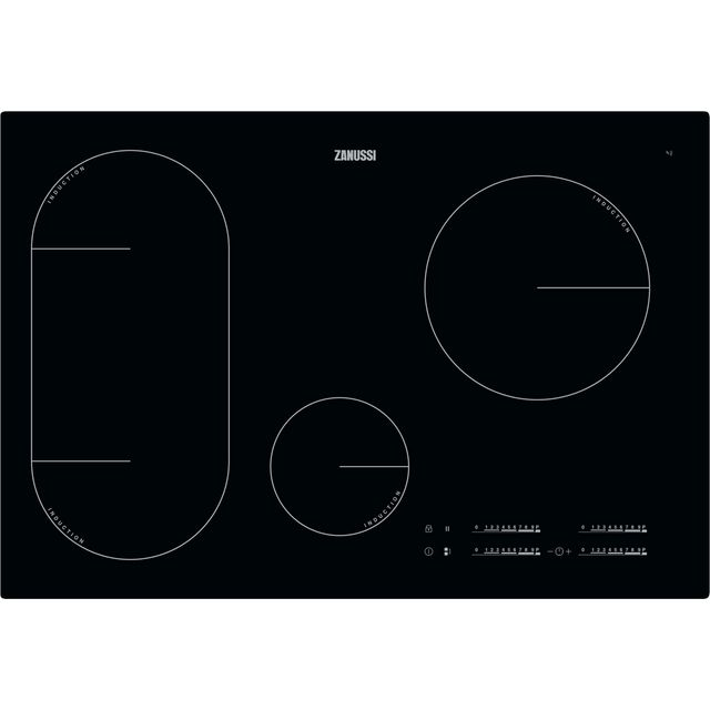 Zanussi 78cm Induction Hob - Black