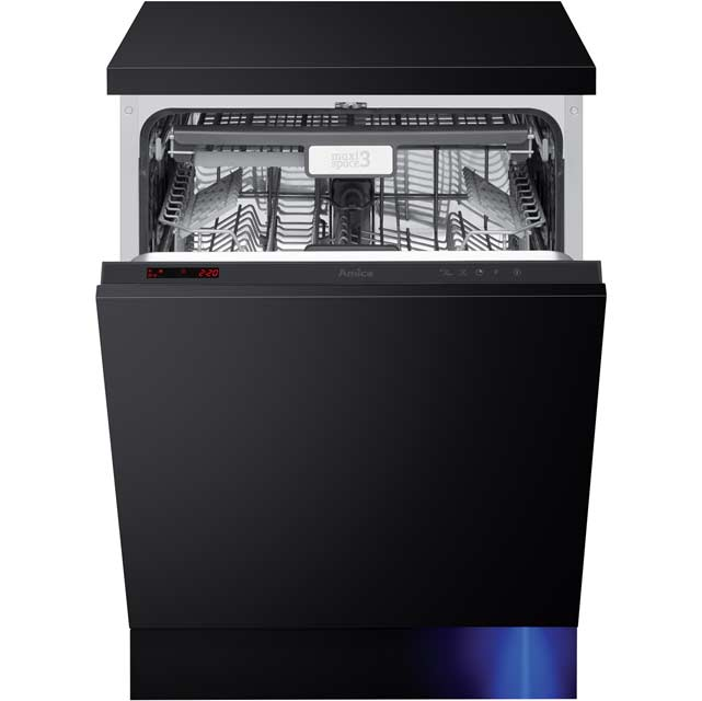 Amica ZIM688E Fully Integrated Standard Dishwasher - Black Control Panel - A+++ Rated