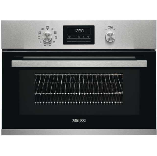 Zanussi ZKK47901XK Built In Compact Electric Single Oven with Microwave Function - Stainless Steel