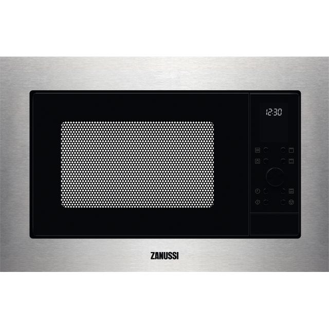 Zanussi ZMSN7DX Built In Microwave With Grill - Stainless Steel - ZMSN7DX_SS - 1
