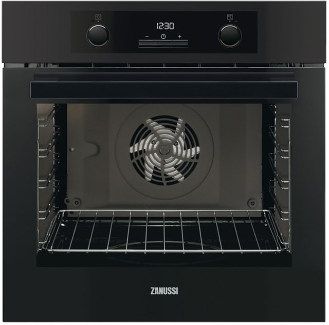 Zanussi ZOA35972BK Built In Electric Single Oven - Black - A Rated - ZOA35972BK_BK - 1