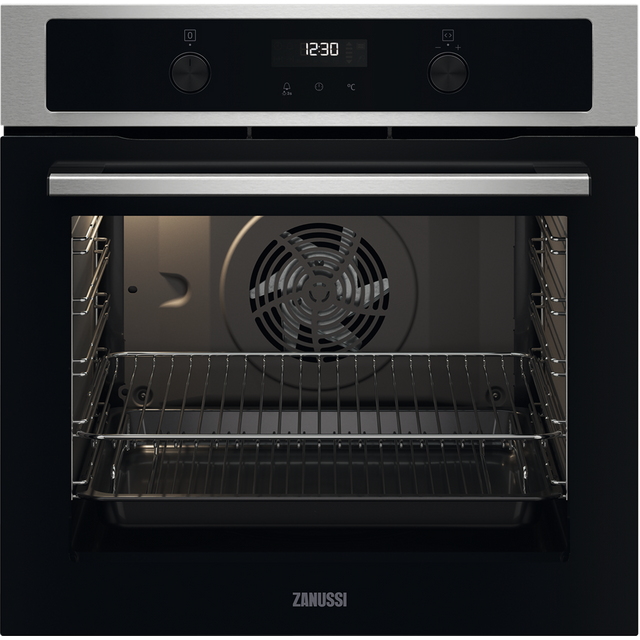 Zanussi ZOCND7X1 Built In Electric Single Oven - Stainless Steel - ZOCND7X1_SS - 1