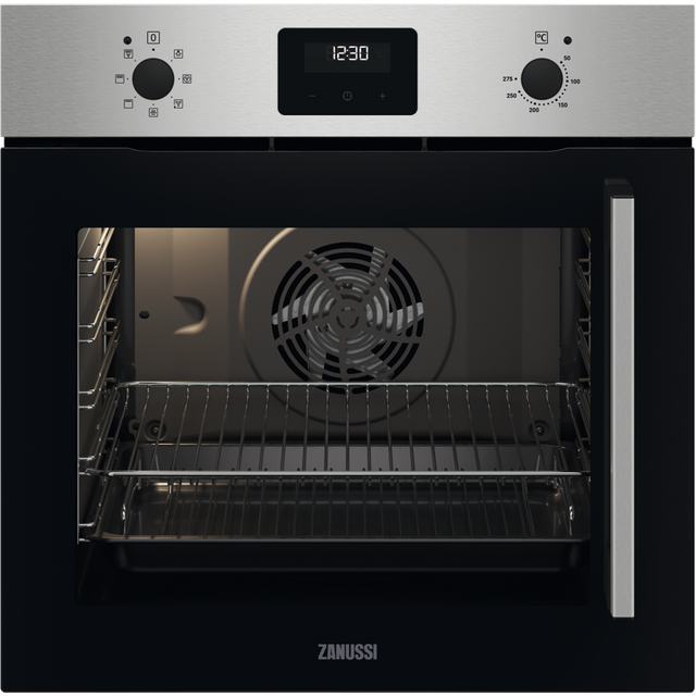 Zanussi ZOCNX3XL Built In Electric Single Oven - Stainless Steel - ZOCNX3XL_SS - 1