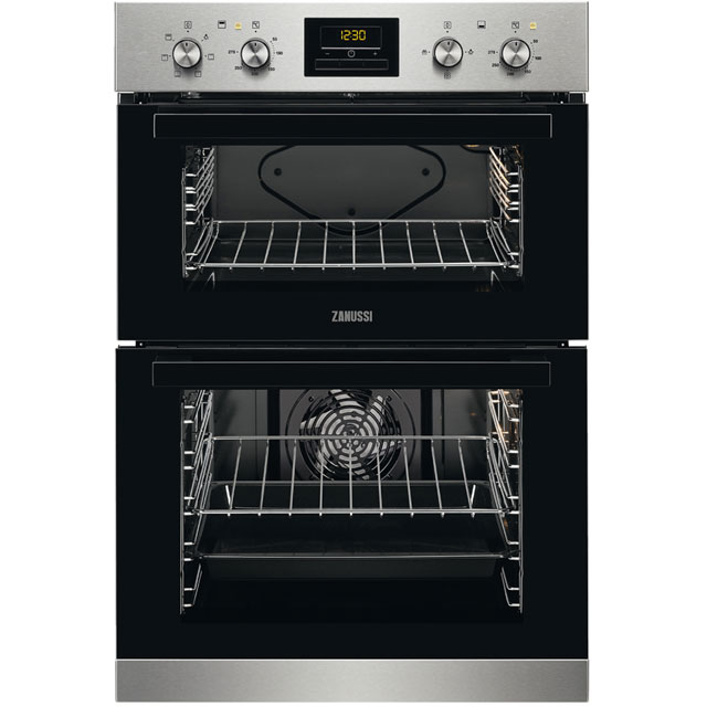 Zanussi Built In Double Oven - Stainless Steel - A/A Rated