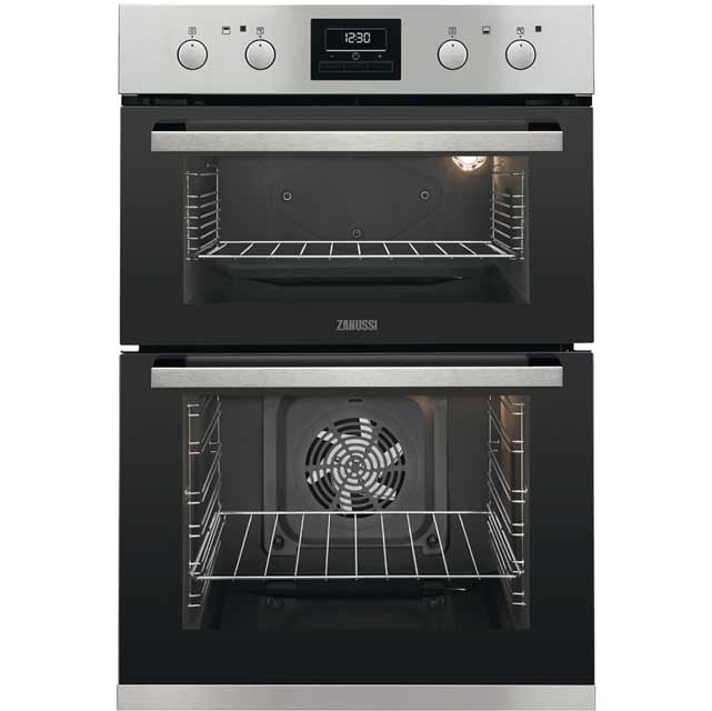 Zanussi ZOD35802XK Built In Double Oven - Stainless Steel - ZOD35802XK_SS - 1