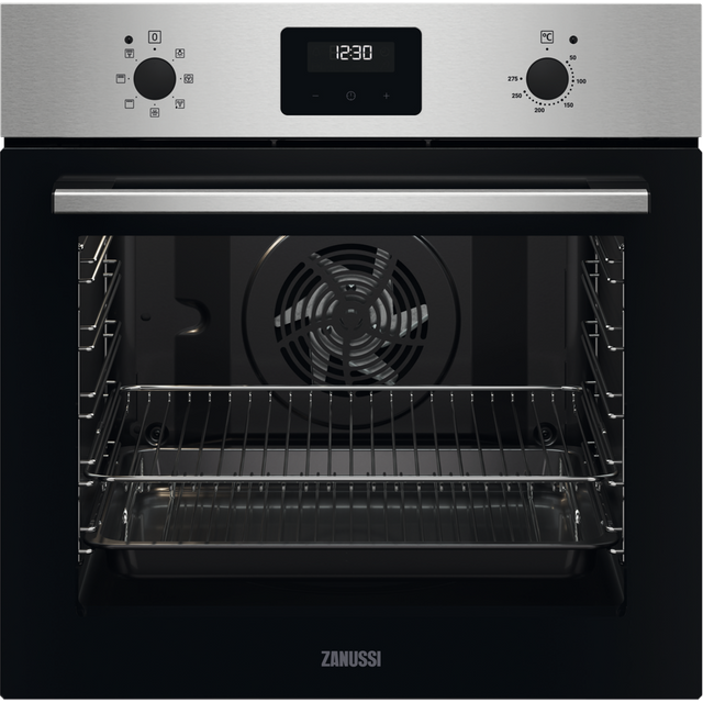 Zanussi ZOHNX3X1 Built In Electric Single Oven - Stainless Steel - ZOHNX3X1_SS - 1