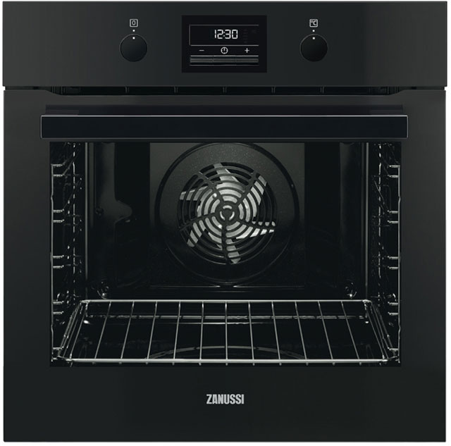 Zanussi ZOP37972BK Built In Electric Single Oven - Black - A+ Rated - ZOP37972BK_BK - 1