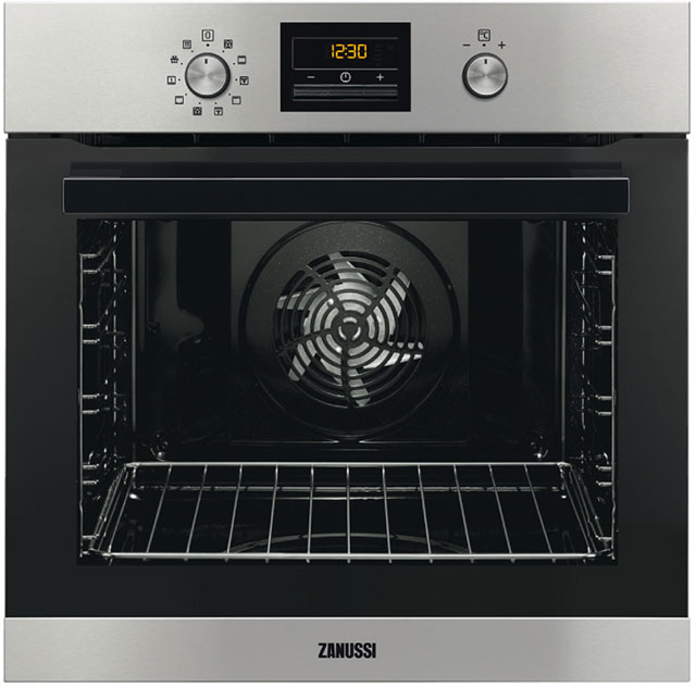 Zanussi ZOP37981XK Built In Electric Single Oven - Stainless Steel - ZOP37981XK_SS - 1