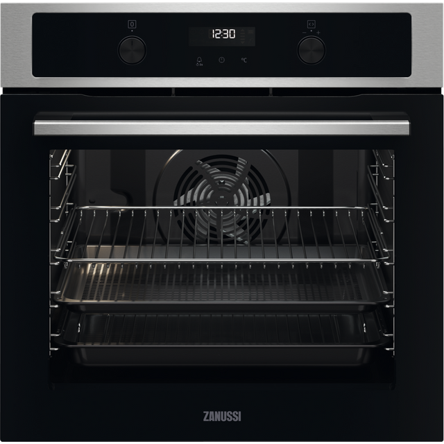 Zanussi ZOPNA7X1 Built In Electric Single Oven - Stainless Steel - ZOPNA7X1_SS - 1