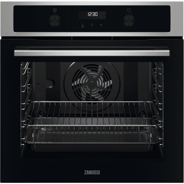 Zanussi ZOPND7X1 Built In Electric Single Oven - Stainless Steel - ZOPND7X1_SS - 1