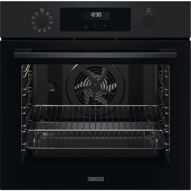 Zanussi ZOPNX6K2 Built In Electric Single Oven - Black - ZOPNX6K2_BK - 1