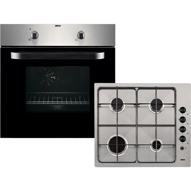 Zanussi ZPGF4030X Built In Electric Single Oven and Gas Hob Pack - A Rated