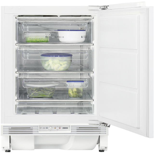 Zanussi ZQF11431DV Built Under Under Counter Freezer - White - ZQF11431DV_WH - 1