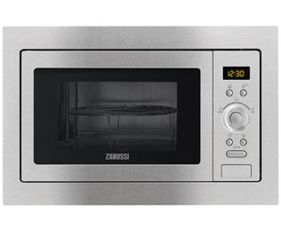 Zanussi ZSG25224XA Built In Microwave With Grill - Stainless Steel - ZSG25224XA_SS - 1