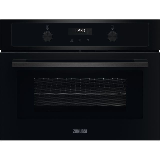 Zanussi ZVENM7K1 Built In Electric Single Oven - Black - ZVENM7K1_BK - 1