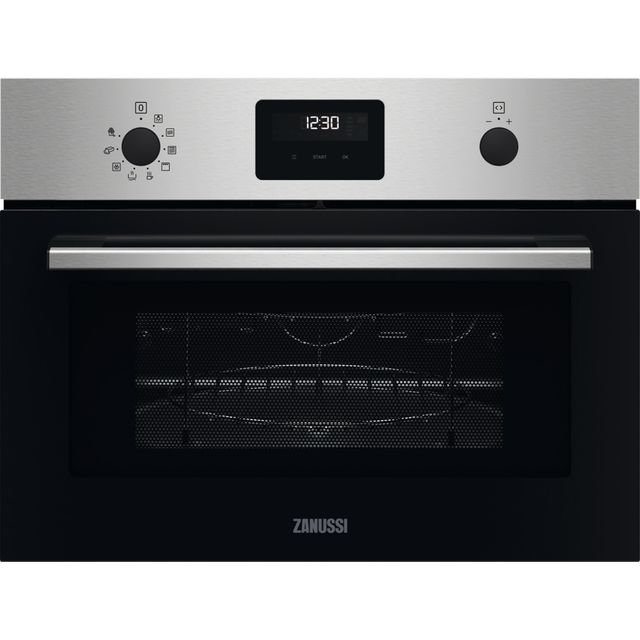 Zanussi ZVENW6X1 Built In Microwave With Grill - Stainless Steel - ZVENW6X1_SS - 1