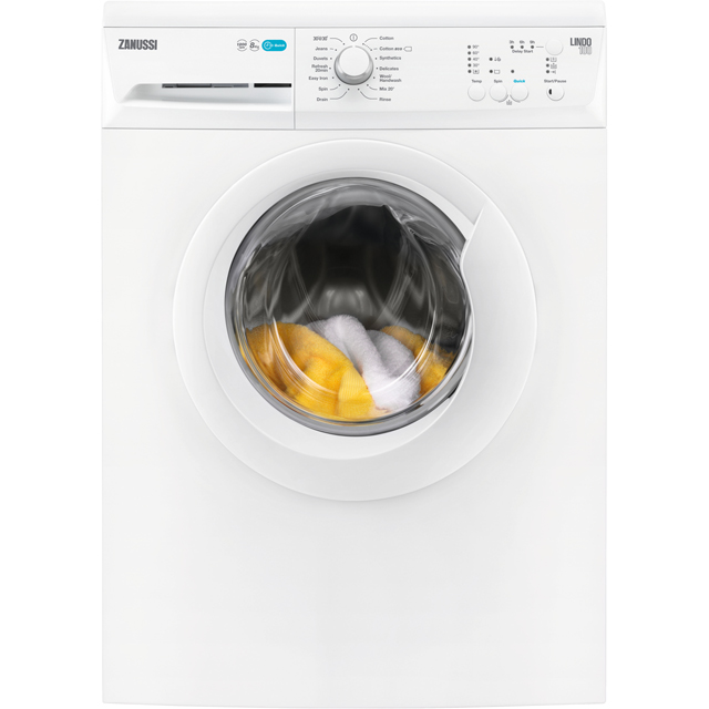 Zanussi Lindo300 ZWF81240NW 8Kg Washing Machine with 1200 rpm - White - A+++ Rated - ZWF81240NW_WH - 1
