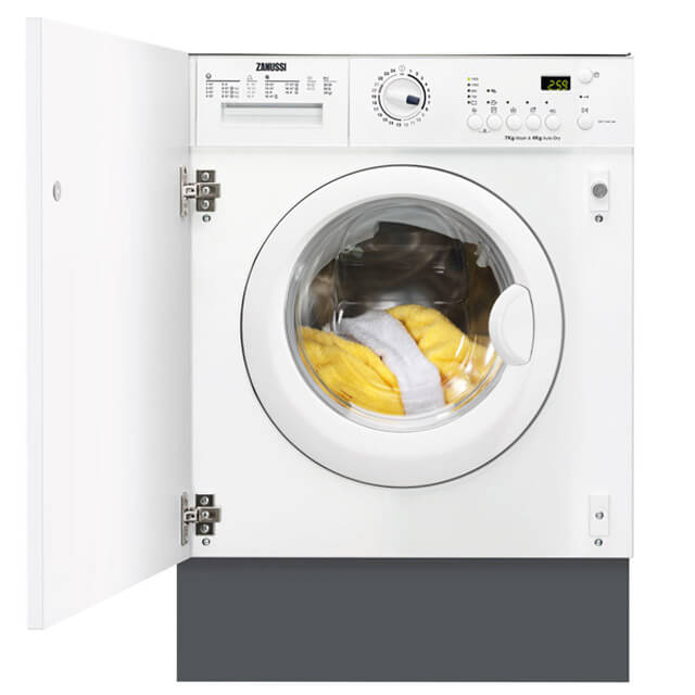 Zanussi ZWT71401WA Integrated Washer Dryer in White