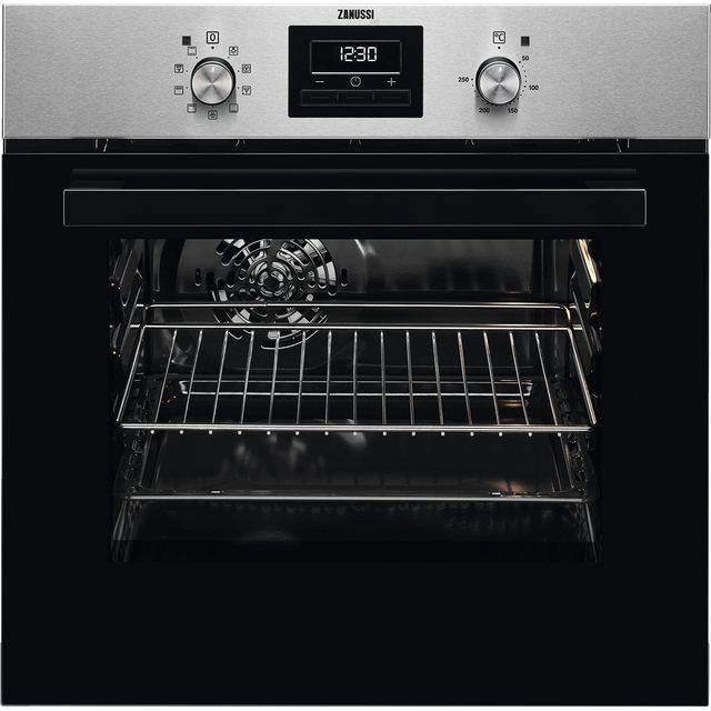Zanussi ZZB35901XA Built In Electric Single Oven - Stainless Steel - ZZB35901XA_SS - 1