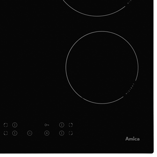 Amica ACH6420FR Built In Ceramic Hob - Black - ACH6420FR_BK - 2