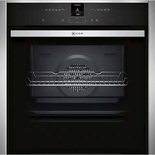 NEFF N70 Slide&Hide B57CR22N0B Built In Electric Single Oven - Stainless Steel - B57CR22N0B_SS - 1