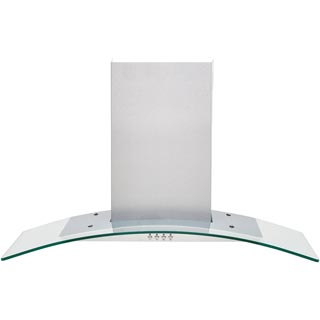 Baumatic BECH90GL Built In Chimney Cooker Hood - Stainless Steel / Glass - BECH90GL_SSG - 1