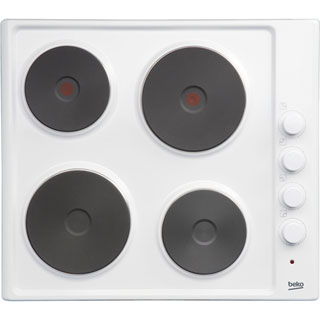 Beko HIZE64101W Built In Solid Plate Hob - White - HIZE64101W_WH - 1