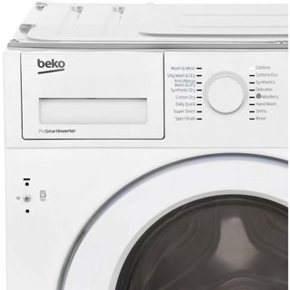 Beko WDIR7543101 Built In Washer Dryer - White - WDIR7543101_WH - 5