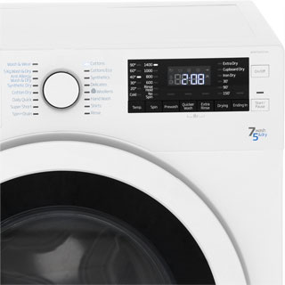 Beko WDR7543121B 7Kg / 5Kg Washer Dryer with 1400 rpm - Black - WDR7543121B_BK - 4