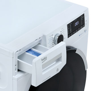 Beko WDR854P14N1W Washer Dryer - White - WDR854P14N1W_WH - 4