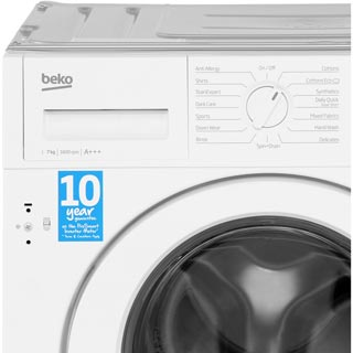 Beko WIR76540F1 Integrated 7Kg Washing Machine with 1600 rpm - A+++ Rated - WIR76540F1_WH - 5