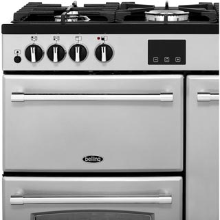 Belling Farmhouse90DFT Dual Fuel Range Cooker - Black - Farmhouse90DFT_BK - 2