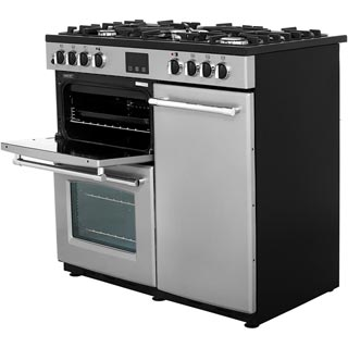 Belling Farmhouse90DFT Dual Fuel Range Cooker - Black - Farmhouse90DFT_BK - 4