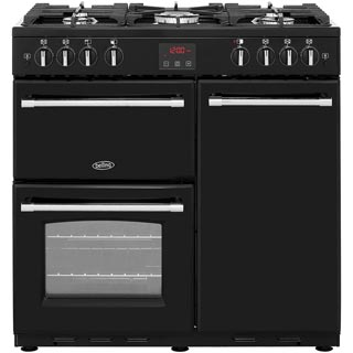 Belling Farmhouse90G Gas Range Cooker - Black - Farmhouse90G_BK - 1