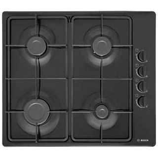 Bosch Serie 2 PBP6B6B60 Built In Gas Hob - Black - PBP6B6B60_BK - 1