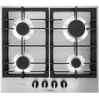 Bosch Serie 6 PCP6A5B90 Built In Gas Hob - Stainless Steel - PCP6A5B90_SS - 1