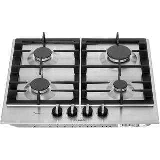 Bosch Serie 6 PCP6A5B90 Built In Gas Hob - Stainless Steel - PCP6A5B90_SS - 4