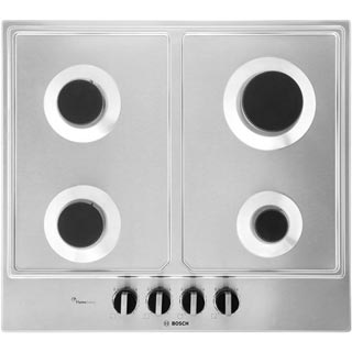 Bosch Serie 6 PCP6A5B90 Built In Gas Hob - Stainless Steel - PCP6A5B90_SS - 5