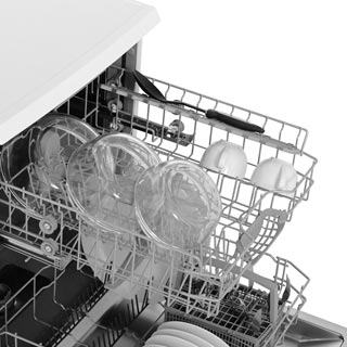 Bosch Serie 2 SMS24AW01G Standard Dishwasher - White - SMS24AW01G_WH - 5