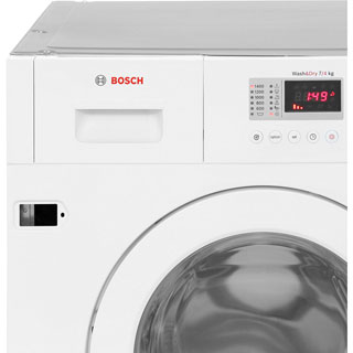 Bosch Serie 4 WKD28351GB Built In Washer Dryer - White - WKD28351GB_WH - 5