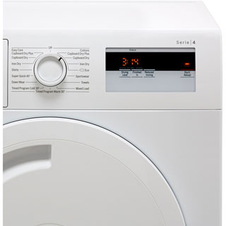 Bosch Serie 4 WTH84000GB 8Kg Heat Pump Tumble Dryer - White - A+ Rated - WTH84000GB_WH - 4