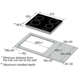 Samsung C61R2AEE Built In Ceramic Hob - Black - C61R2AEE_BK - 2