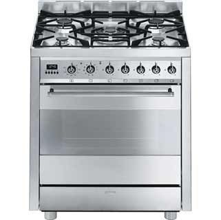 Smeg Classic C7GPX8 Dual Fuel Range Cooker - Stainless Steel - C7GPX8_SS - 1