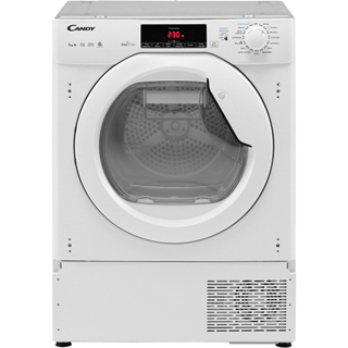 Candy CBTDH7A1TE Integrated 7Kg Heat Pump Tumble Dryer - White - A+ Rated - CBTDH7A1TE_WH - 2